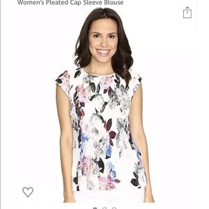 NYDJ Not Your Daughter's Jeans Floral White Blouse